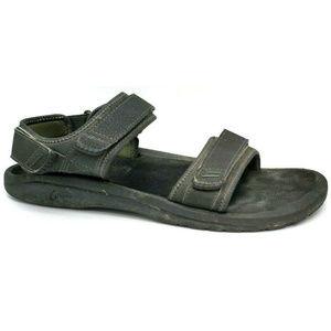 OluKai Hokua Pahu Mens Black Sport Sandals Size 13